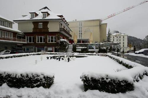 Das Hotel Palace wird erneuert. (Bild: Keystone)