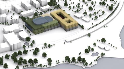 Modell der Salle Modulable auf dem Lido-Areal. (Bild: PD)