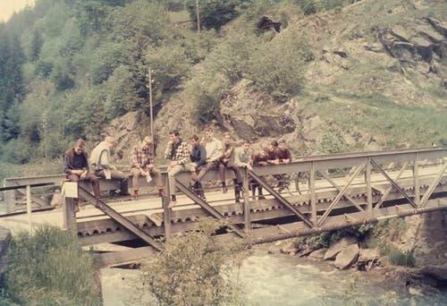 Das Sommerlager im Jahr 1969 in Lauelen.
