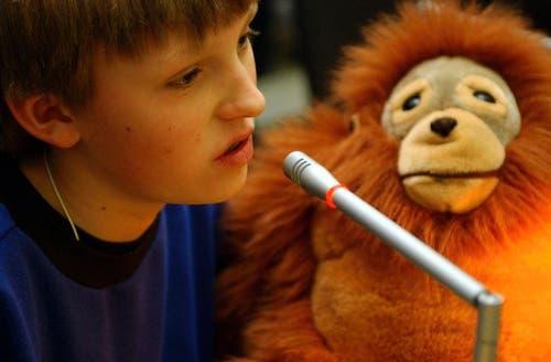 Der Affe: Wer ihn hat, hat das Wort. (Archivbild Neue LZ)
