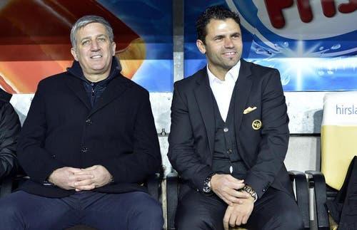 Der ehemalige YB-Coach Vladimir Petkovic und der aktuelle YB-Trainer Uli Forte. (Bild: Keystone)