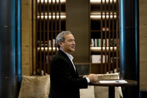 Samih Sawiris am Montag im neuen Luxushotel in Andermatt. (Bild: Pius Amrein / Neue LZ)