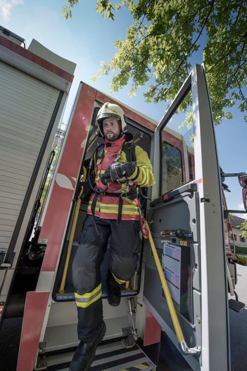Die Feuerwehr wird häufig durch Brandmeldeanlagen alarmiert – dies auch wegen anderer Ursachen als ausgebrochenes Feuer. (Bild: Pius Amrein (Neue LZ))