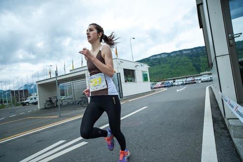 Nilay Akil lief in der Kategorie Frauen Elite auf den zweiten Platz. (Bild: Roger Grütter / Neue LZ)