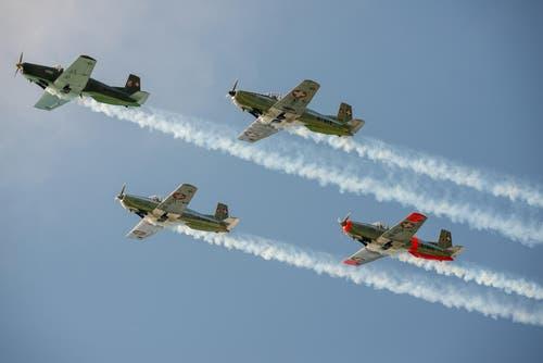 Flugshow heute Roll-Out PC-24 (Bild: Leser Thomas Siegenthaler)