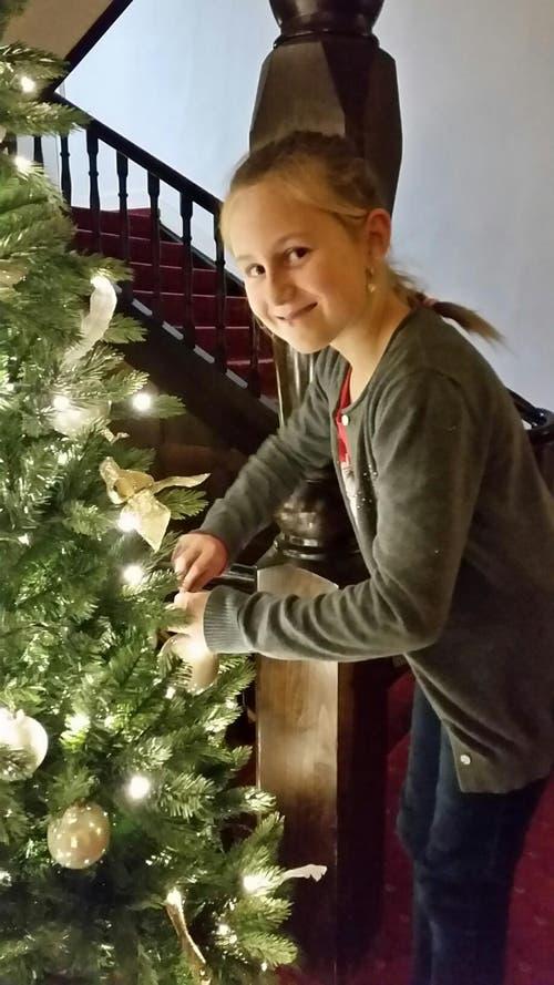 Ein toller Zukunftstag von Enya Eltschinger im Hotel Seehof. Abteilung Dekoration von der Remimag AG Rothenburg. (Bild: Selina Troxler)