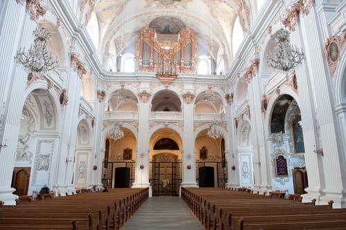 Die Jesuitenkirche vor der Sanierung. (Bild: Boris Bürgisser)