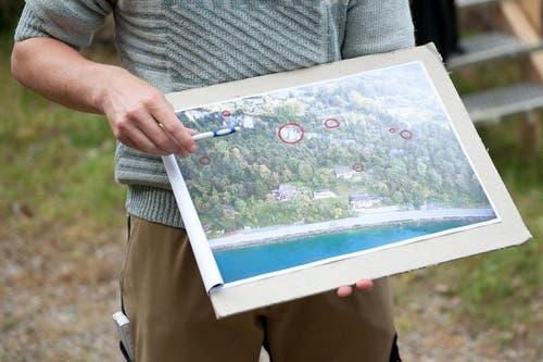 Die rot eingezeichneten Punkte zeigen, wo Arbeiten gemacht werden müssen. (Bild: Boris Bürgisser / Neue LZ)