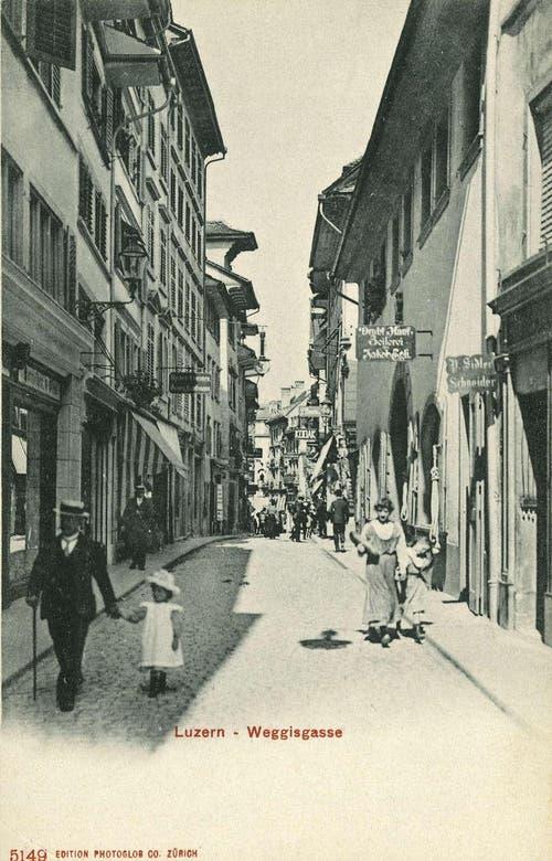 Weggisgasse, 1901 (Bild: PD)