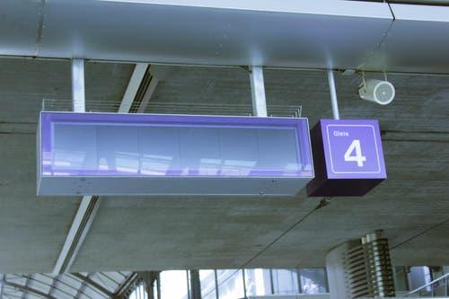 Denn auch die Infotafeln fielen aus. (Bild: Christian Volken / luzernerzeitung.ch)