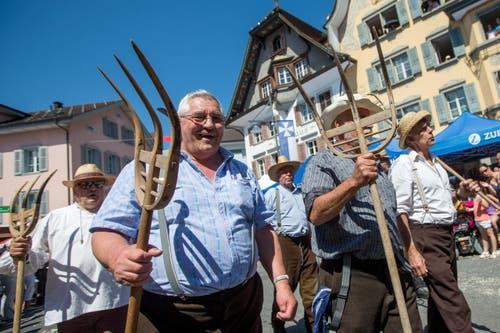 Jodlerfruende Chnutu Knutwil am Zentralschweizer Jodlerfest. (Bild: Philipp Schmidli)
