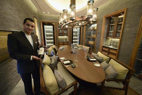 Privater Essensbereich mit exklusivem Weinkeller. (Bild: Keystone)
