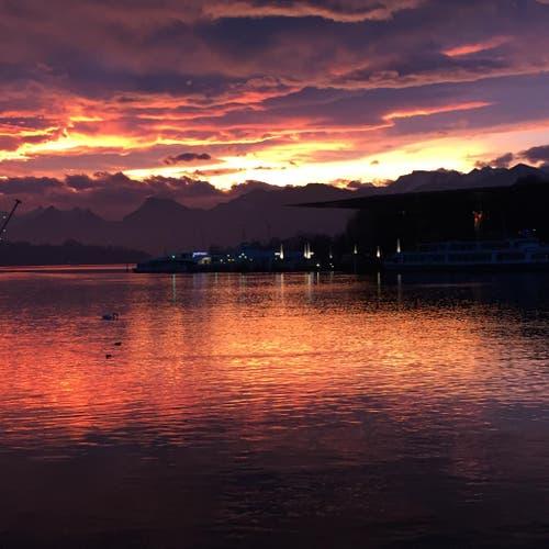 Morgenstimmung in Luzern (Bild: Ursula Vogt)