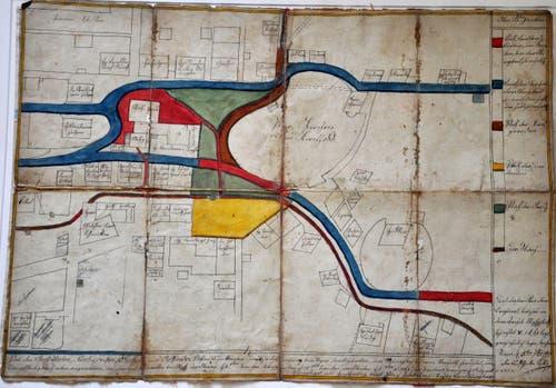 Auf dem Plan des Stanser Dorfzentrums von 1782 macht die Landstrasse (heute Nägeligasse) genau beim Fundgebiet einen Bogen. Heute ist die Strassenführung gerade.