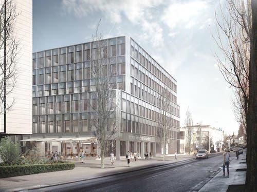 Der Neubau auf dem Areal des Kantonsspital kostet 40 Millionen Franken. (Bild: Visualisierung Metron Architektur AG)