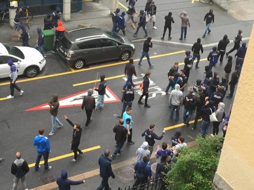 Gemäss Polizei wurde niemand verletzt. (Bild: Leserreporter)