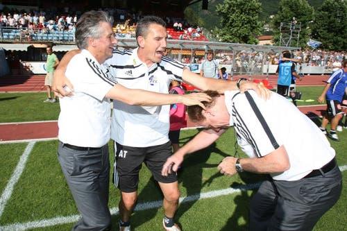 19. Juli 2009: Erster Sieg der neuen Saison: Auswärts in Bellinzona gewinnt der FCL 2:1. (Bild: Philipp Schmidli/Neue LZ)