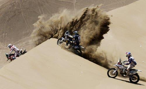Spektakuläres Foto der Dakar Rally. (Bild: Keystone)