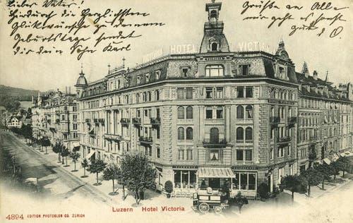 Neustadt (Pilatusstrasse / Viktoriaplatz, 1908. (Bild: PD)