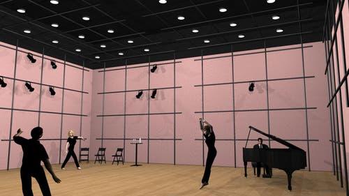 Mögliche Innenansicht Studio im neuen Theater Luzern (Bild: Visualisierung PD)