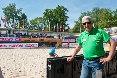 Der Initiant und OK-Präsident des Turniers blickt voller Vorfreude auf die nächsten Tage: Marcel Bourquin. (Bild: Boris Bürgisser / Neue LZ)