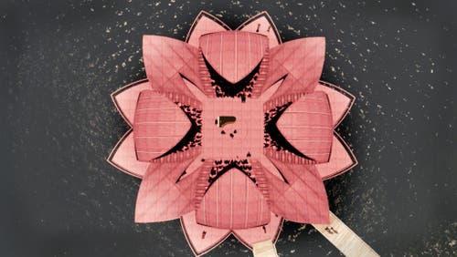 Die Blütenblätter lassen sich zum Schutz vor Wind und Wetter einklappen. (Bild: PD)