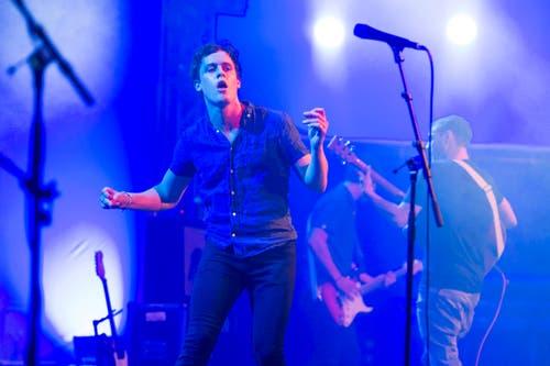 Der britische Sänger Jack Balfour Scott von der Band «The Mispers». (Bild: URS FLUEELER)