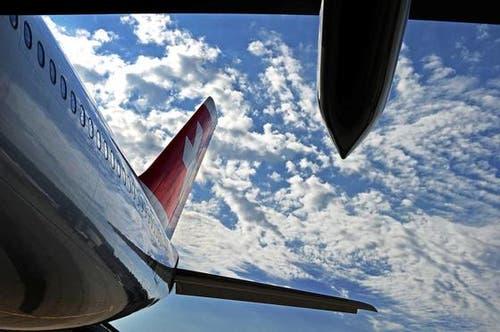 Der Airbus A340-300 der Swiss. (Bild: Nadia Schärli/Neue LZ)