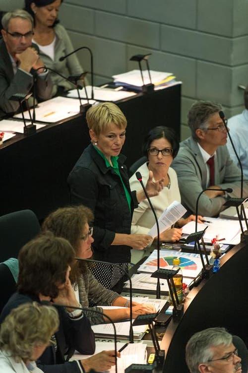 Jacqueline Mennel Kaeslin, SP und Helene Meyer-Jenni, SP. (Bild: Roger Grütter / Neue LZ)