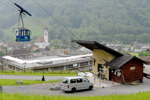 Die Seilbahn Zelgli - Brändlen in Wolfenschiessen (Bild: Corinne Glanzmann)