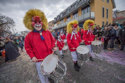 Auf dem Bild zu sehen ist der Tambourenverein Zofingen. (Bild: Pius Amrein)