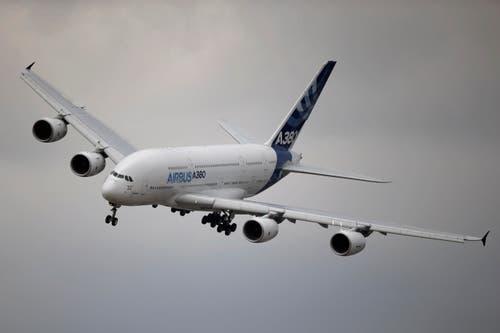 Ein Airbus A380 beim Demonstrationsflug. (Bild: Francois Mori)