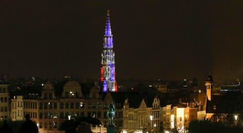 Der Turm der Stadthalle in Brüssel. (Bild: EPA/OLIVIER HOSLET)