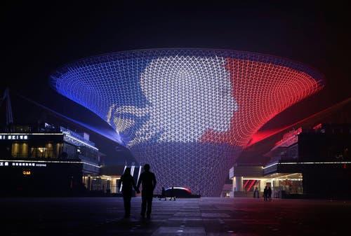 Eine Konstruktion auf dem Areal der 2010 World Expo in Shanghai. (Bild: EPA/STR)