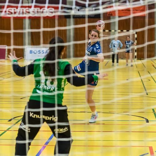 Yael Gwerder beim Penalty. (Bild: Christian H.Hildebrand / ZZ)