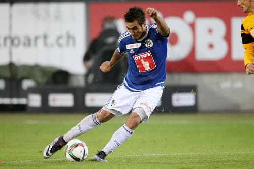 Luzerns Dario Lezcano in Aktion. (Bild: Philipp Schmidli / Neue LZ)