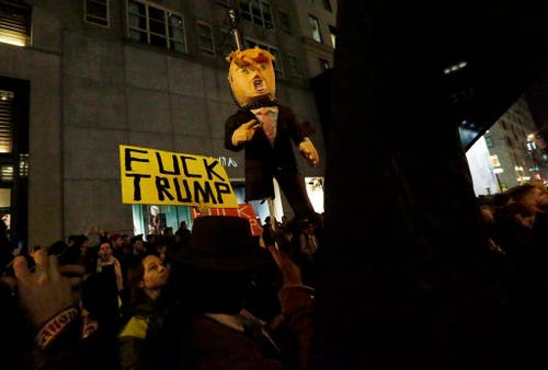 US Presidential Election Protest (Bild: Keystone)