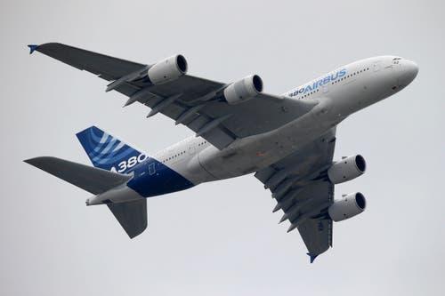 Der Airbus A380 während seines Demonstrationsfluges. (Bild: Francois Mori)