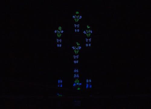 """Die Ostschweizer Formation """"The Blackouts"""" bei ihrer Darbietung. (Bild: Mirco Rederlechner (SRF))"""