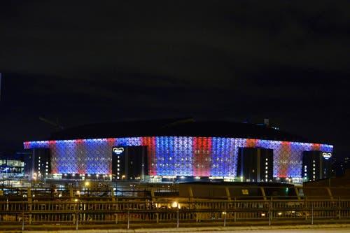 Die Friends Arena in Solna (Stockholm). (Bild: EPA/MARCUS ERICSSON)