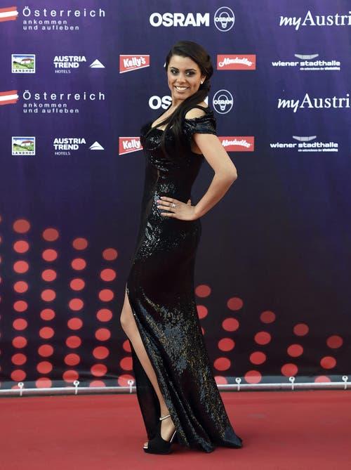 Mélanie René vertritt die Schweiz am Eurovision Song Contest (ESC) 2015 in Wien mit dem Song «Time to Shine». (Bild: Keystone)