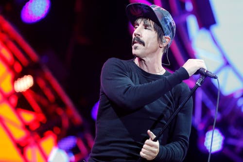 Anthony Kiedis von den Red Hot Chili Peppers (Bild: Keystone / Peter Klaunzer)