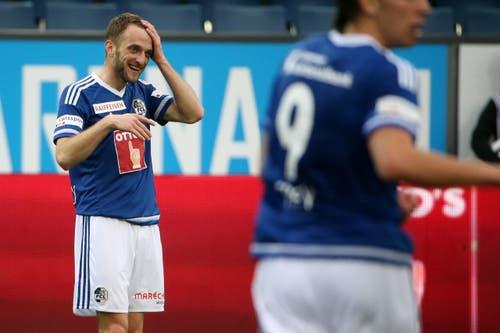 Luzerns Christian Schneuwly bejubelt seinen Treffer zum 4:1 (Bild: Philipp Schmidli)