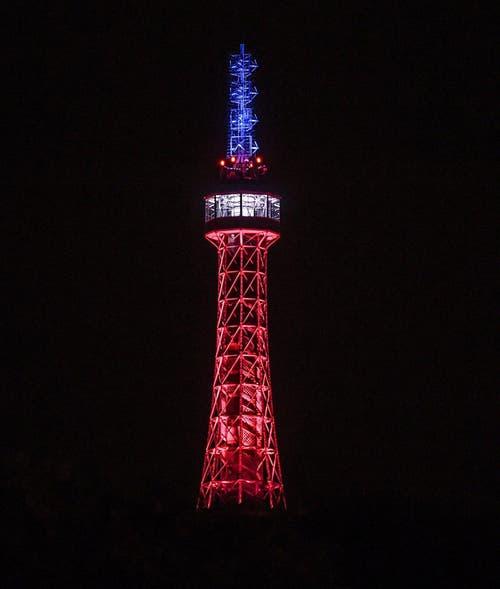 Petrin-Turm in Prag. (Bild: EPA/FILIP SINGER)