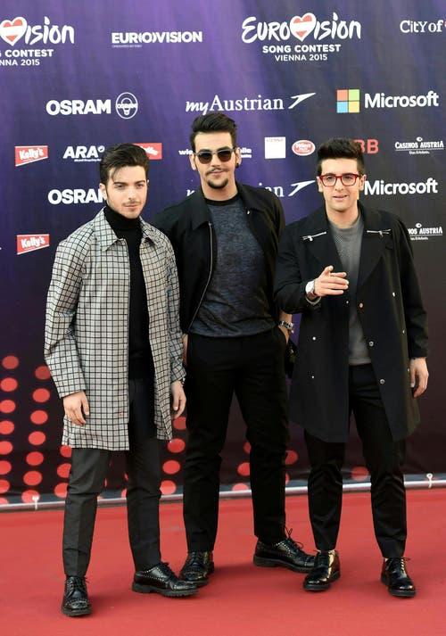 Gianluca Ginoble, Ignazio Boschetto und Piero Barone (von links) von der Band 'Il Volo', Italien. (Bild: Keystone)