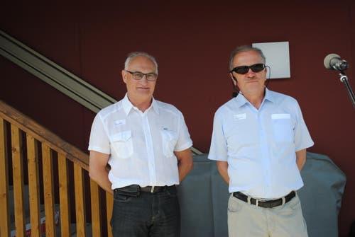 Die beiden Vereinspräsidenten Toni Mathis (links) vom Segelklub Ennetbürgen und Heinz Wyss vom Kanuclub Nidwalden. (Bild: Rosmarie Berlinger)