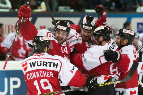 Doch schlussendlich gewann das Team Canada. (Bild: EPA/ PASCAL MULLER)