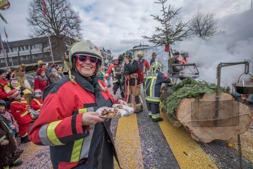Auf dem Bild zu sehen ist die Feuerwehr Hürntal. (Bild: Pius Amrein)