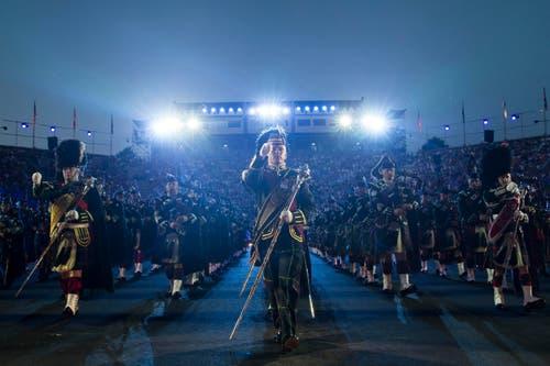 The Massed Pipes and Drums (Bild: Keystone / Patrick Staub)