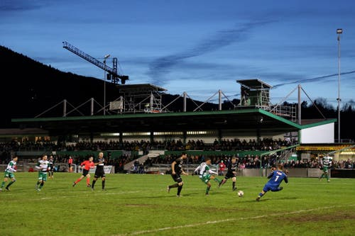 Letztes Spiel im Kleinfeld Kriens zwischen dem SC Kriens und dem FC Köniz am Samstag, 19. November 2016. (Bild: Philipp Schmidli)